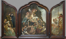 Triptych – Raising of the Cross